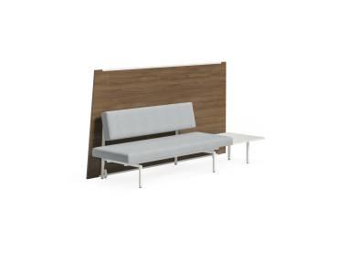 Sylvi Rectangular Lounge, Back Panel, Ganging Table