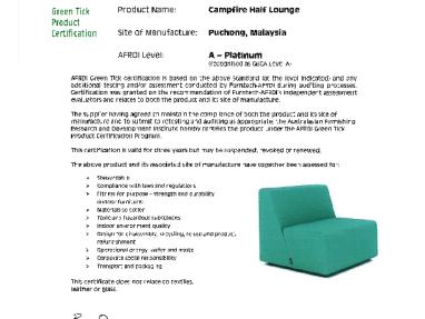 Green Tick Platinum Campfire Half Lounge