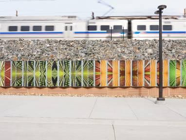 PolyVision a3 CeramicSteel, Arvada Ridge Rail Station, Arvada, CO.