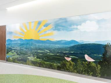 PolyVision a3 CeramicSteel walls with Surface Imaging at Shriners Hospital for Children, Lexington, KY
