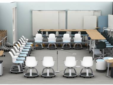Education setting with node chairs