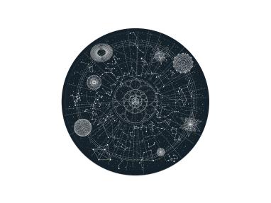 Moooi Carpets Celestial Round Rug On White