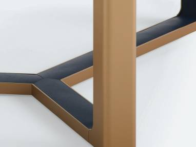 Close-up to Verlay table legs