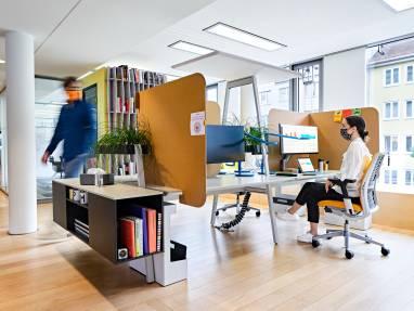 EMEA Munich LINC 2nd Floor Benching & Shielding Post Covid