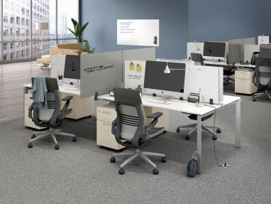 environment image showing Polyvision Boundri screens on desks