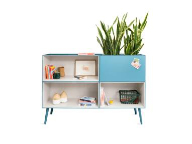 Volum Art Freestanding Bookcase on white background