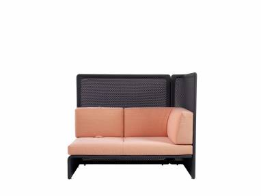 Lagunitas 2-Seat Lounge with High-Back Screen and One Side Screen, Knit