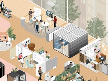 Work Better 360 feature tile illustration
