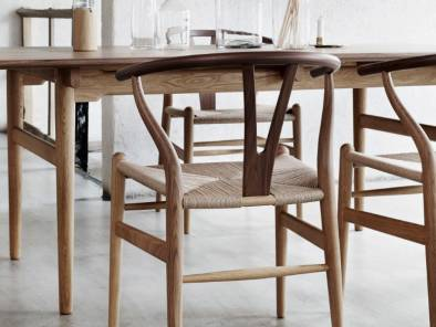 Wishbone Chair, CH327 Dining Table