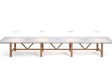 BAE Orangebox Meeting Classroom Tables On White
