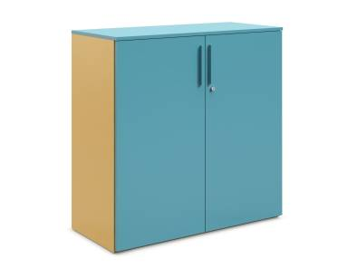 Universal Storage with hinged doors on white background