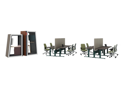Personal space with Piper Series, Steelcase Series 2, Migration SE, Grab Pouf, Steelcase Flex Collection, Lagunitas Lounge, Think and Ology