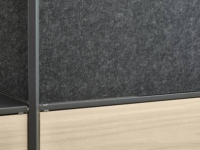Close up of infills on Steelcase Flex Active Frames