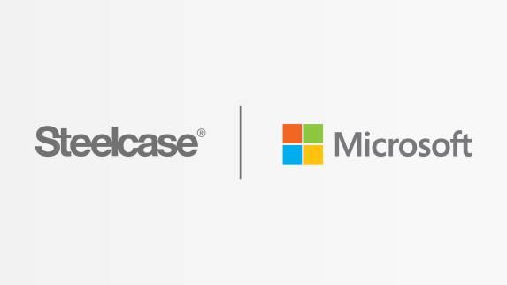 Steelcase et Microsoft logo