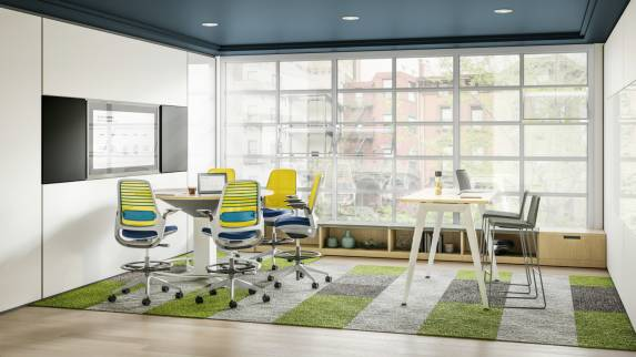Steelcase Series 1 office chair in collaboration and meeting space