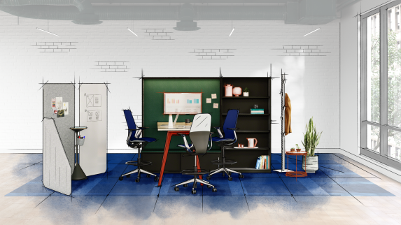 Collaboration environment with Mackinac, Steelcase Flex Collection