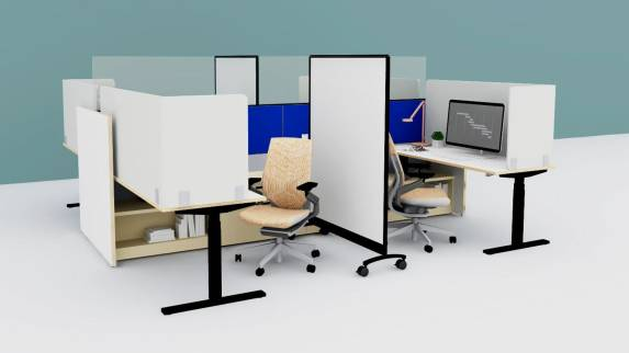 application for the post-covid workplace with panel systems