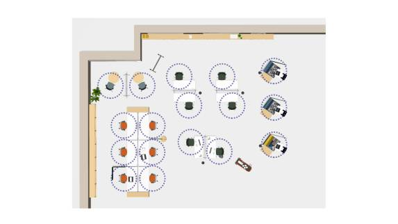 education library space floorplan view