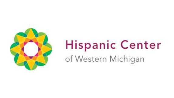 Hispanic Center of Western Michigan logo with a flower