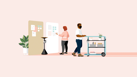 Work Better - The Great Office Reset Illustration Design Principle Fixed to Fluid