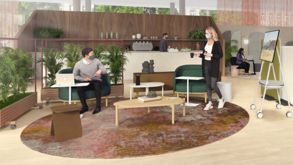 Work Better social spaces illustration
