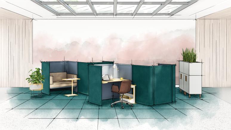 Graphic Design for focus space with Lagunitas Focus Nook
