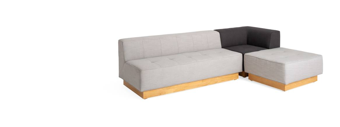 West Elm Work Conover Plinth Sectional