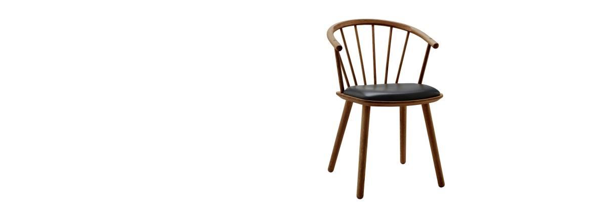 BoliaDossier bas Sleek, assise en cuir