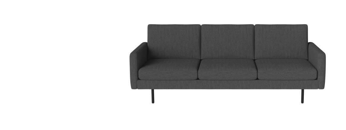Bolia Scandinavia Remix 3 sitzer sofa Auf weißem Hintergrund