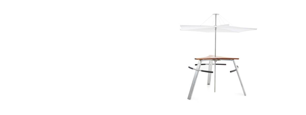 Extremis Abachus Standing Table with Parasol header