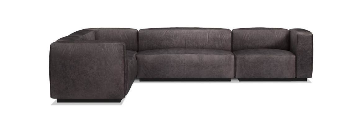 Blu Dot Cleon Large Sectional Sofa On White