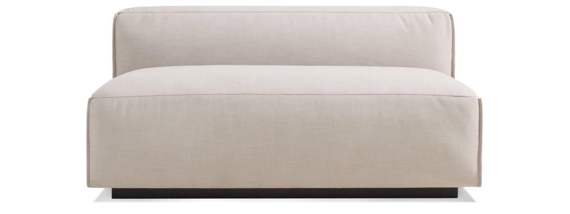 Blu Dot Cleon Armless Sofa On White