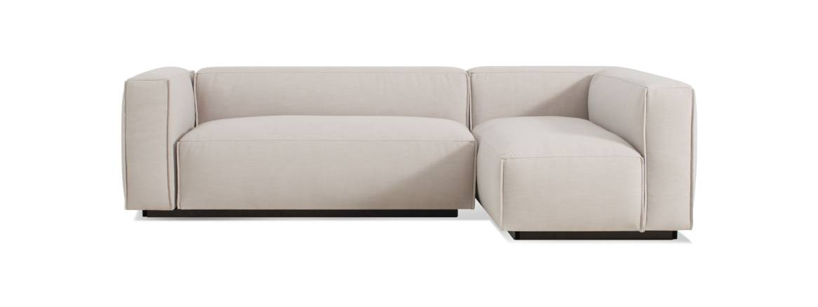 Blu Dot Cleon Small Sectional Sofa On White