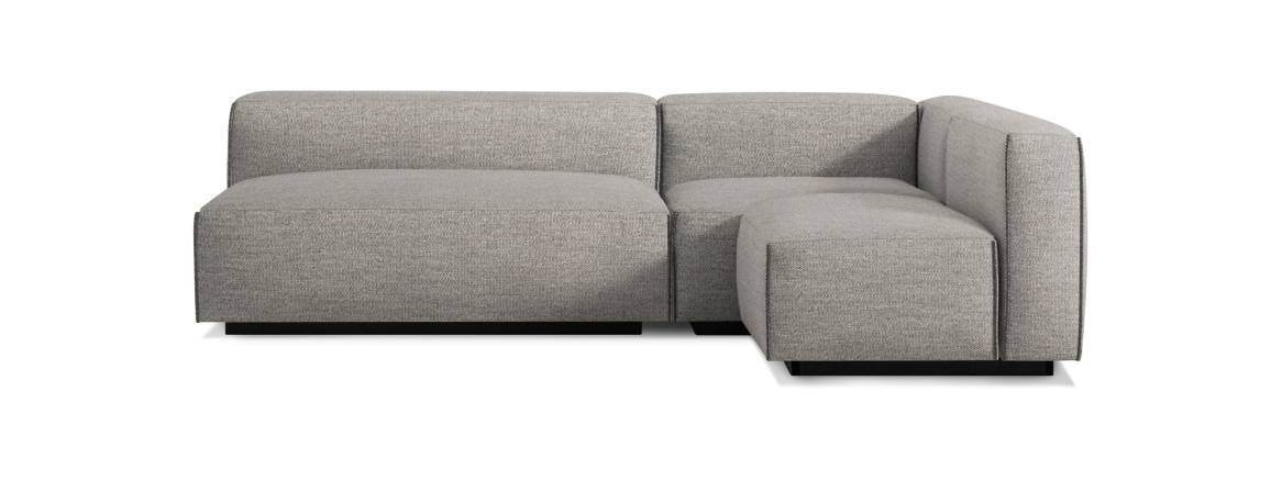 Blu Dot Cleon Medium Sectional Sofa On White