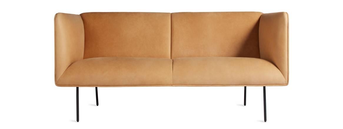 Blu Dot Dandy Leather Studio Sofa