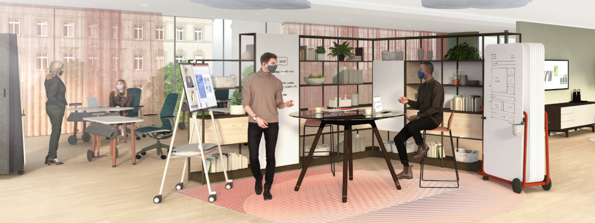 Work Better collaboration spaces illustration