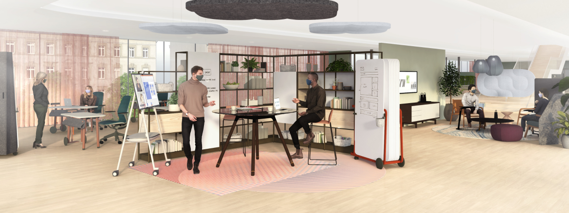 Collaboration Spaces main banner illustration