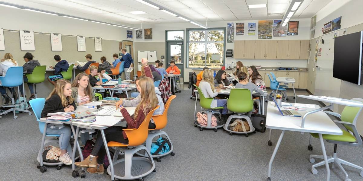Classroom Furniture Cad ~ Active learning center grant steelcase