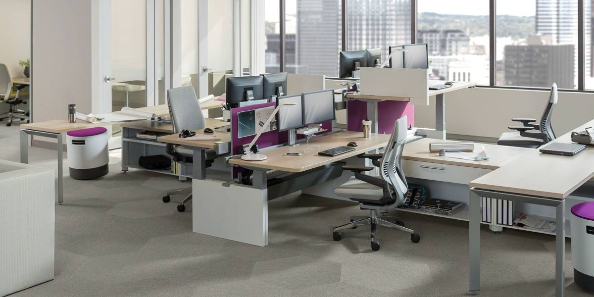 Series Height Adjustable Office Benches Tables Steelcase