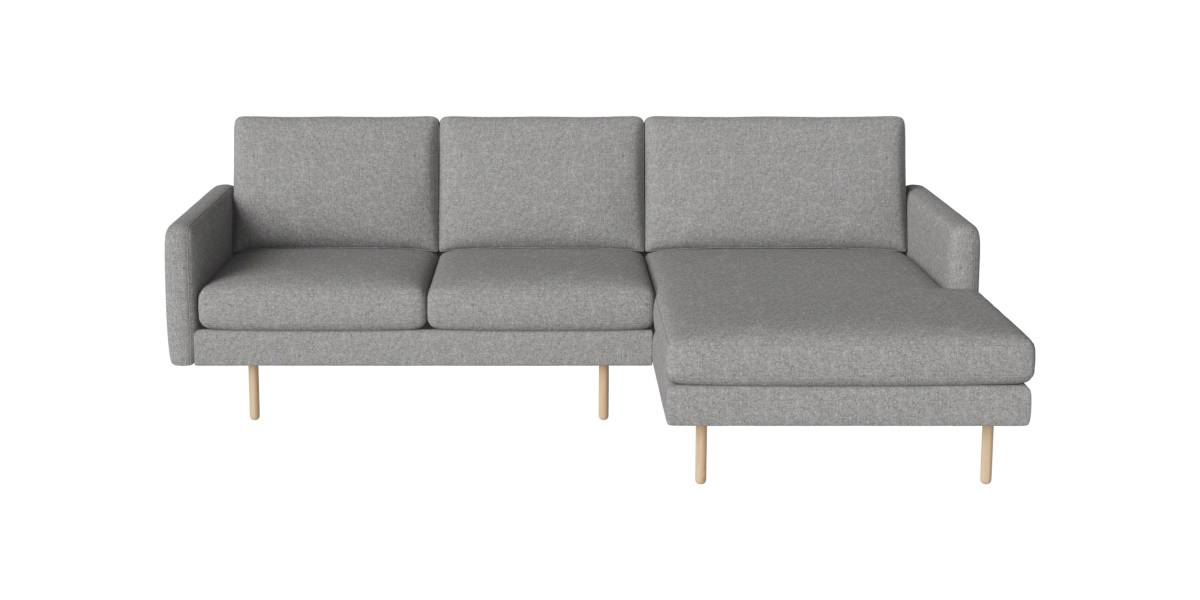 Scandinavia Remix 3 Sitzer Sofa mit Chaiselongue