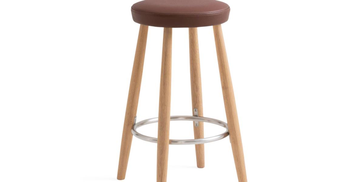 Ch56 Amp Ch58 Wood Bar Stools With Leather Seats Steelcase
