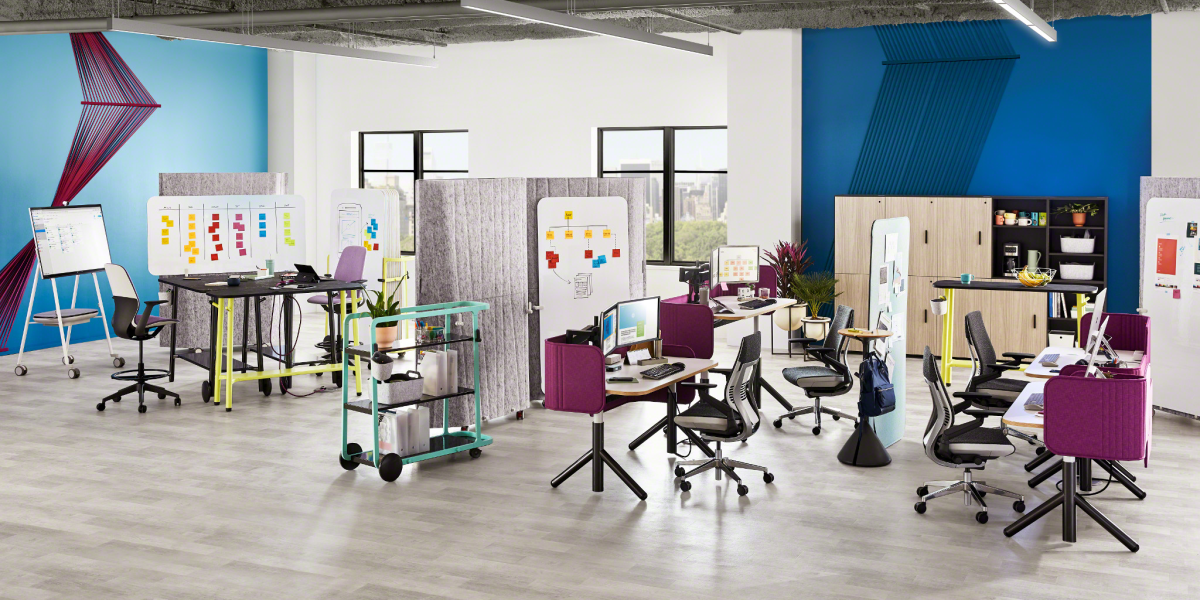 Steelcase Flex Height Adjustable Desk