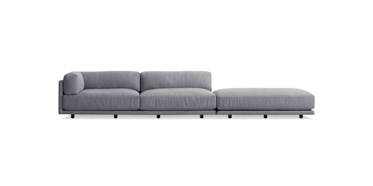 Blu Dot Sunday Long and Low Sectional Sofa