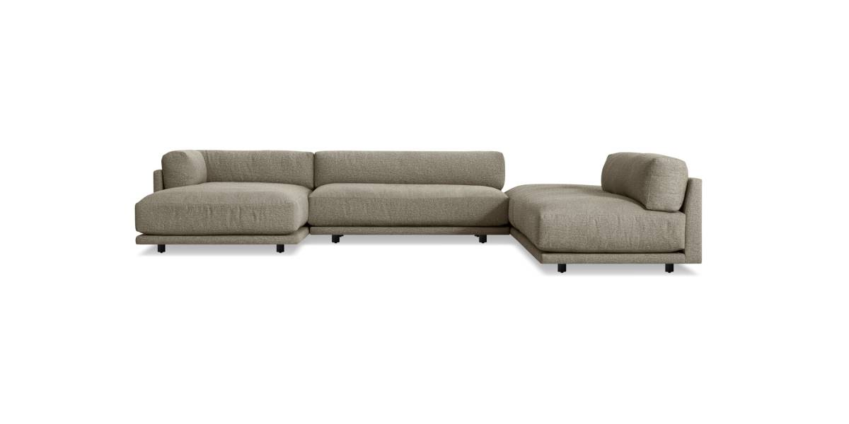 Blu Dot Sunday Backless L Sectional with Chaise