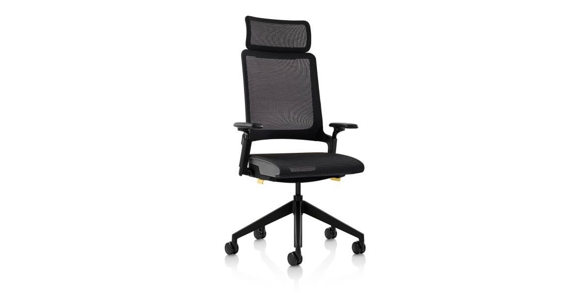 Kirn Task armchair with headrest