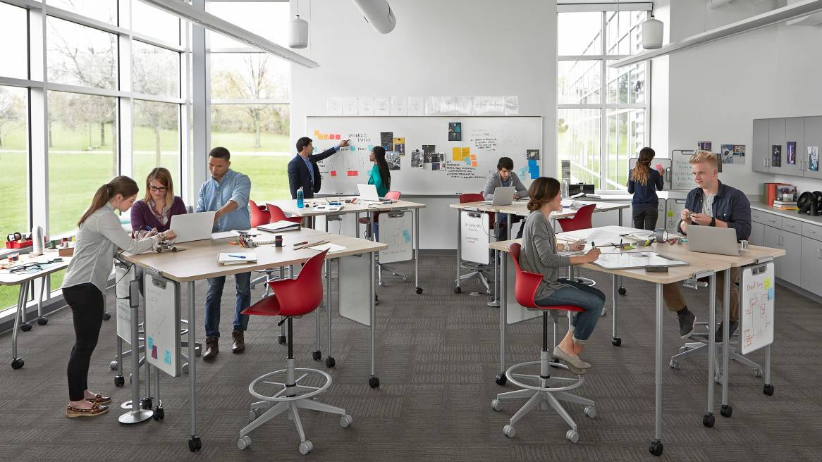 Classroom Design For Discussion Based Teaching ~ Classroom furniture solutions for education steelcase