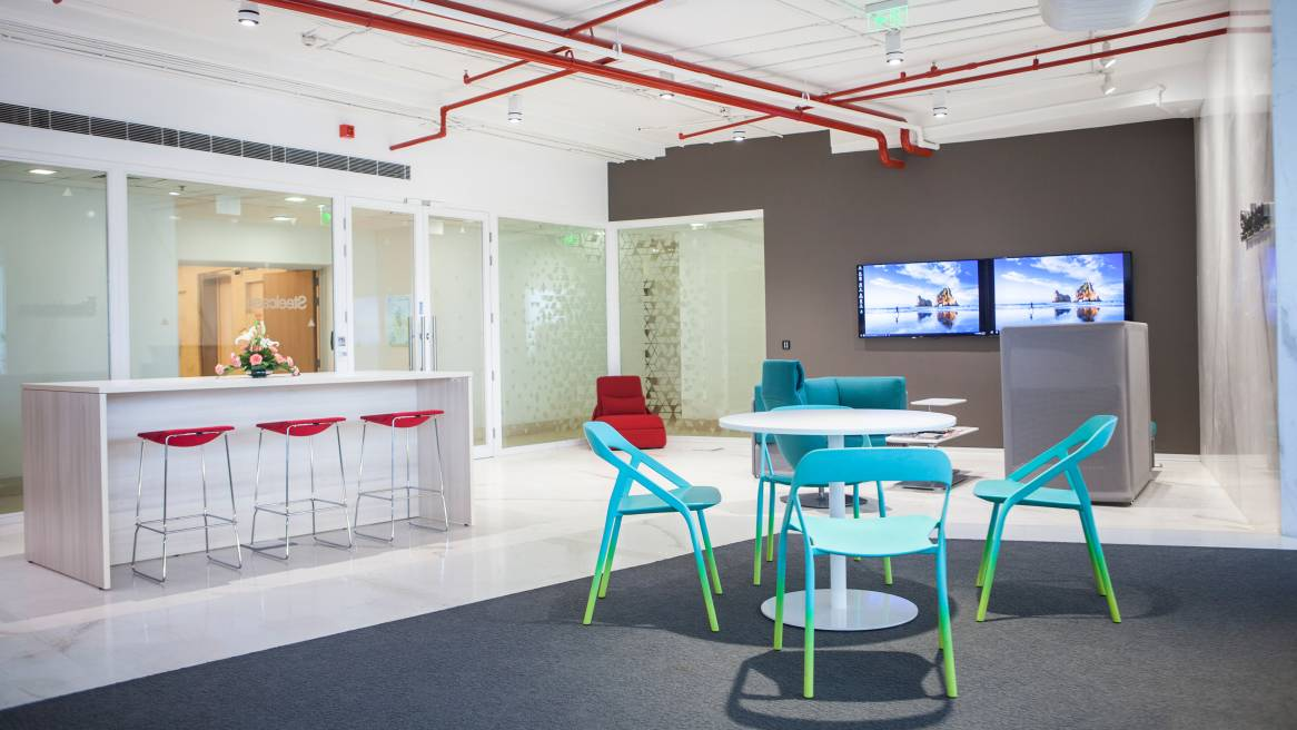 Open space in the Steelcase Worklife Delhi India