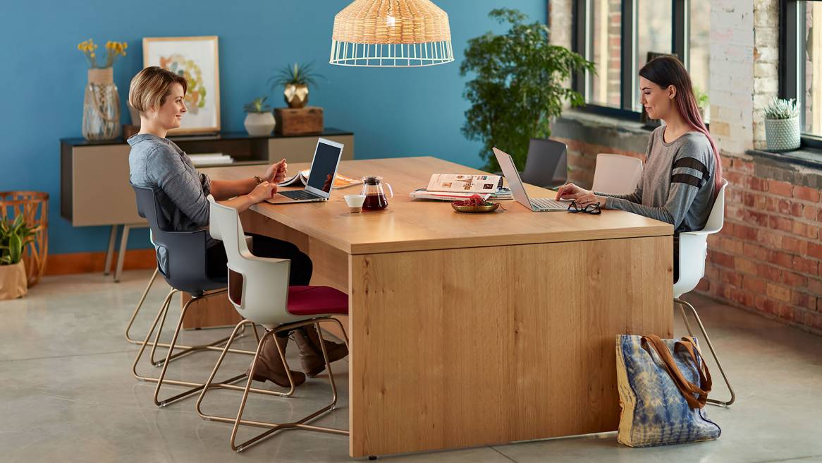 Campfire Big Table By Turnstone Steelcase - Communal work table
