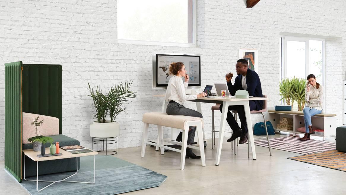 Steelcase B-Free Lounge Möbel, Beistelltische und Stehtische