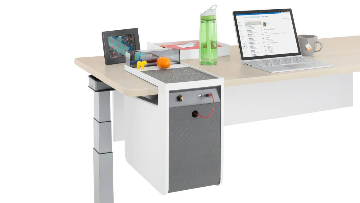 Console personnelle Verrouillage par clé et prises USB